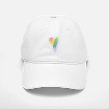 Rainbow Heart Baseball Baseball Cap