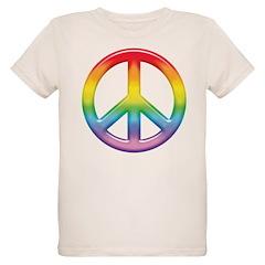 Gay Pride Rainbow Peace Symbol T-Shirt