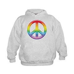 Gay Pride Rainbow Peace Symbol Hoodie
