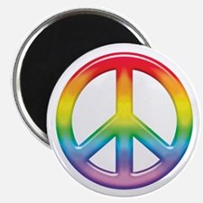 Gay Pride Rainbow Peace Symbol Magnet