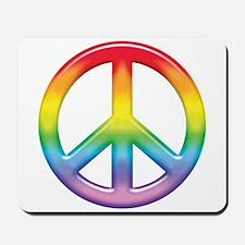 Gay Pride Rainbow Peace Symbol Mousepad