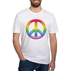 Gay Pride Rainbow Peace Symbol Shirt