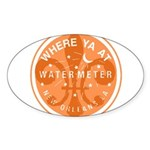 Where Ya At Water Meter Sticker (Oval)