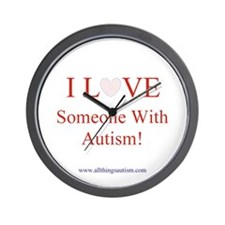 I Love Someone With Autism wi Wall Clock
