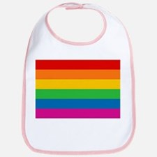 Gay Pride Rainbow Flag Bib