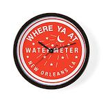 Where Ya At Water Meter Wall Clock