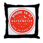 Where Ya At Water Meter Throw Pillow