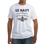 NAVY Granddaughter Defending Fitted T-Shirt