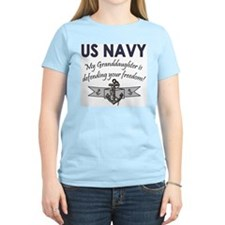 NAVY Granddaughter Defending Women's Pink T-Shirt