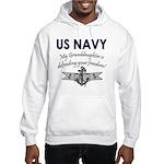 NAVY Granddaughter Defending Hooded Sweatshirt