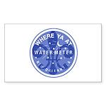 Where Ya At Water Meter Sticker (Rectangle 10 pk)