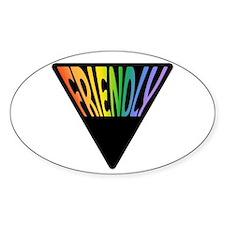 Gay Friendly Rainbow Triangle Decal