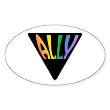 Gay Ally Rainbow Triangle Decal