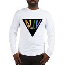 Gay Ally Rainbow Triangle Long Sleeve T-Shirt