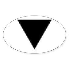 Black Triangle Lesbian Pride Decal