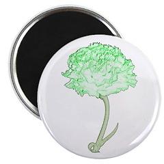 Green Carnation Magnet