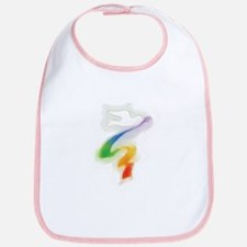 Dove with Rainbow Ribbon Bib