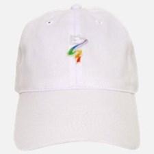 Dove with Rainbow Ribbon Baseball Baseball Cap