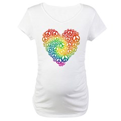 Rainbow Peace Hearts Shirt