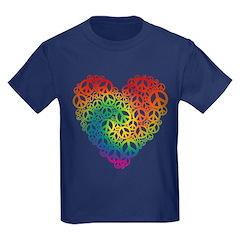 Rainbow Peace Hearts T
