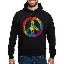 Rainbow Peace Symbols Hoodie