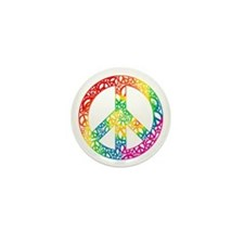 Rainbow Peace Symbols Mini Button