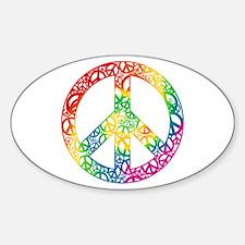 Rainbow Peace Symbols Decal