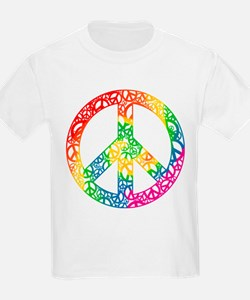 Rainbow Peace Symbols T-Shirt