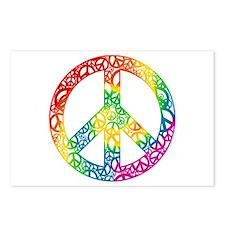 Rainbow Peace Symbols Postcards (Package of 8)