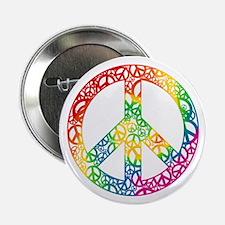 "Rainbow Peace Symbols 2.25"" Button"