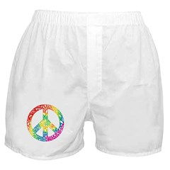 Rainbow Peace Symbols Boxer Shorts
