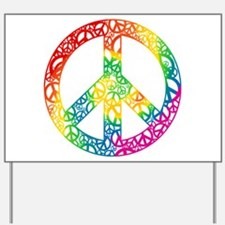 Rainbow Peace Symbols Yard Sign