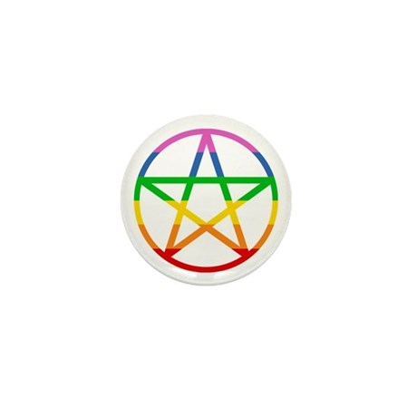 Rainbow Pentacle Mini Button