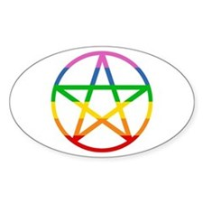 Rainbow Pentacle Decal