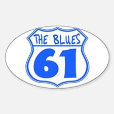 The Blues Highway 61 Sticker (Oval)
