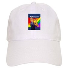 Rainbow Rosie Baseball Cap