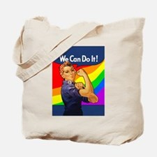 Rainbow Rosie Tote Bag