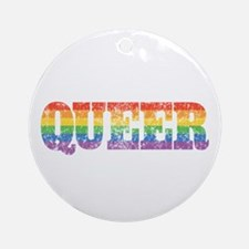 Retro Queer Ornament (Round)