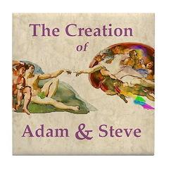 Creation of Adam And Steve Tile Coaster