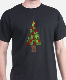 Diversity Christmas Tree T-Shirt