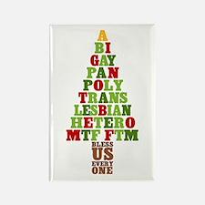 Diversity Christmas Tree Rectangle Magnet