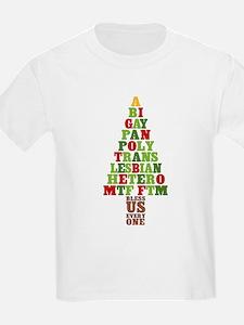 Diversity Christmas Tree T-Shirt