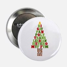 "Diversity Christmas Tree 2.25"" Button"