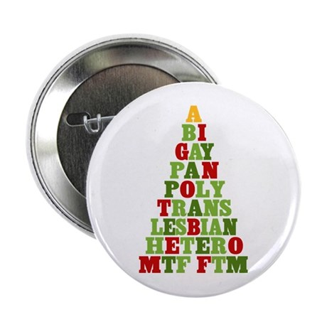 "Diversity Holiday Tree 2.25"" Button"