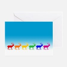 Rainbow Reindeer Greeting Card
