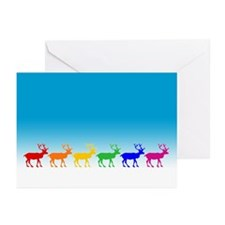 Rainbow Reindeer Greeting Cards (Pk of 10)
