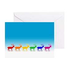 Rainbow Reindeer Greeting Cards (Pk of 20)