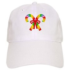Rainbow Candy Canes Baseball Cap