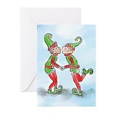 Elves Kissing Greeting Cards (Pk of 20)