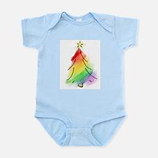 Rainbow Holiday Tree Infant Bodysuit
